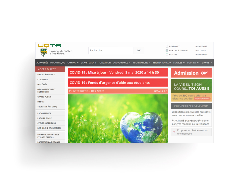 site web uqtr
